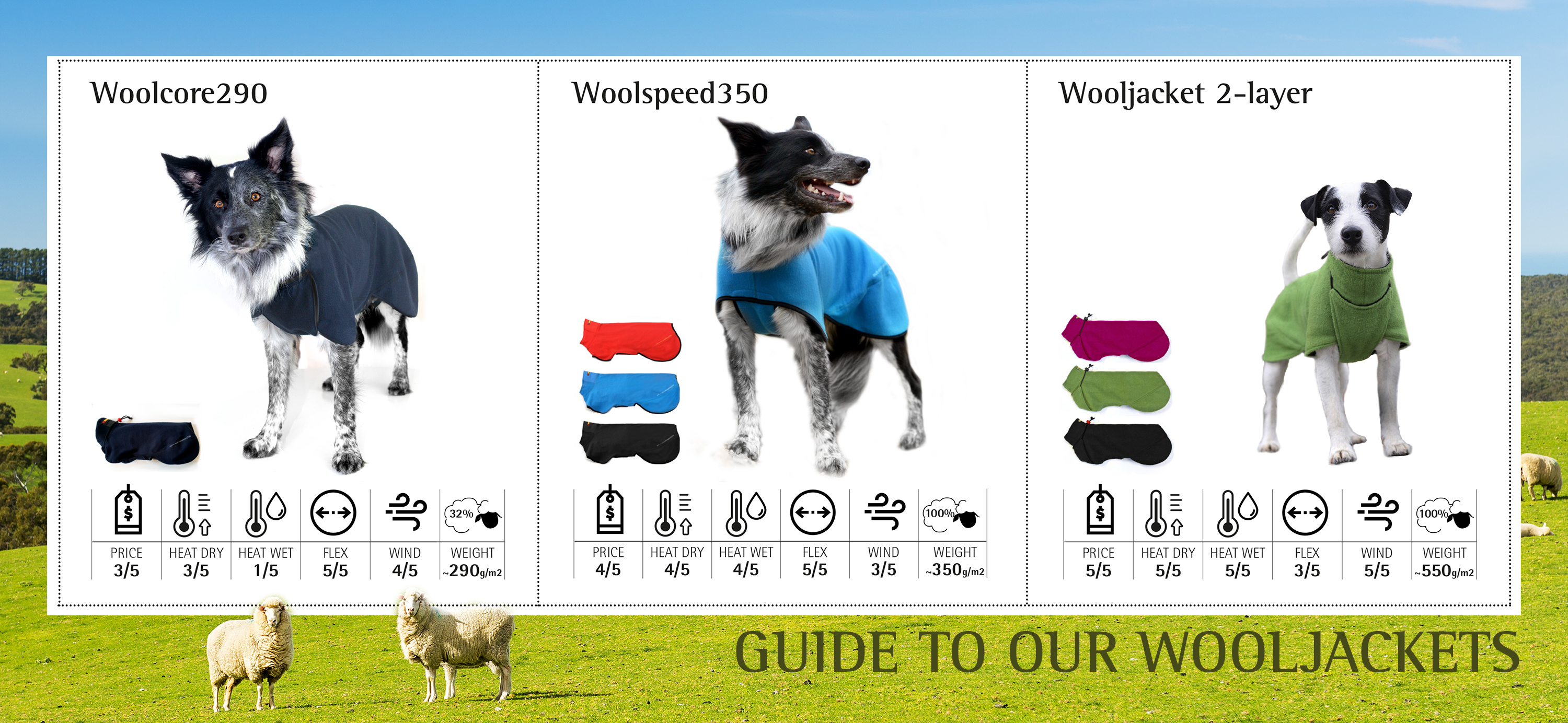 Guide to our wooljackets